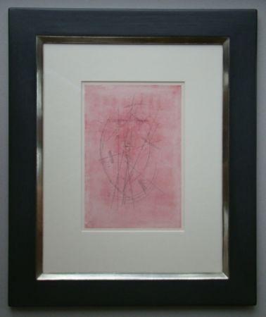 Pochoir Kandinsky - Zeichnung in Rosa, 1927