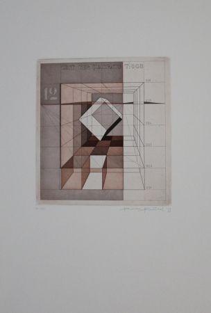 Aguafuerte Y Aguatinta Heintschel - Zeit der Quadrate