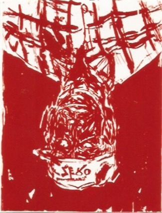 Grabado En Madera Baselitz - Zero for the painter