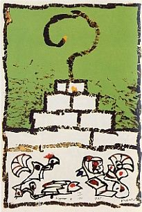 Litografía Alechinsky - Ziggourat I