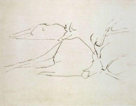 Aguafuerte Y Aguatinta Beuys - Zirkulationszeit: Tote Hirsche