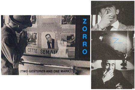 Litografía Baldessari - Zorro (Two Gestures and One Mark)