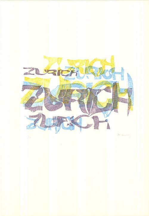Litografía Bury - Zurich