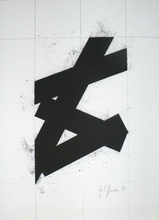Litografía Hoffmann -  Zwart