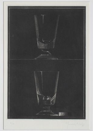 Aguatinta Hernandez Pijuan - Zwei Gläser