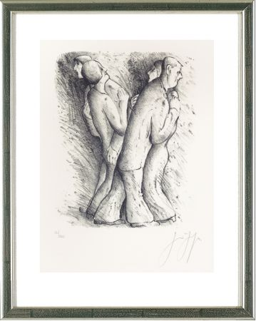 Litografía Grass - Zwei tanzende Paare
