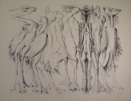 Litografía Grass - Zwischen den Vögeln